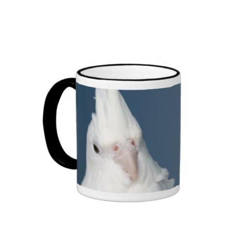 Whiteface Lutino Cockatiel Mug