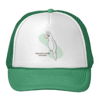 Whiteface Lutino Cockatiel Trucker Hat