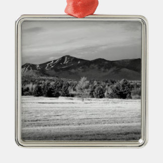 Whiteface Mountain Square Metal Christmas Ornament