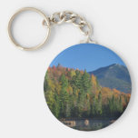 Whiteface Mountain over Little Cherrypatch Pond Basic Round Button Keychain