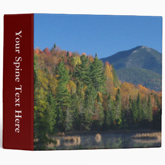 Whiteface Mountain over Little Cherrypatch Pond 3 Ring Binder