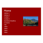 Whiteface Mountain over Little Cherrypatch Pond Large Business Cards (Pack Of 100)