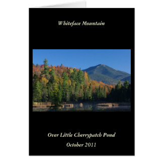 Whiteface Mountain over Little Cherrypatch Pond Card