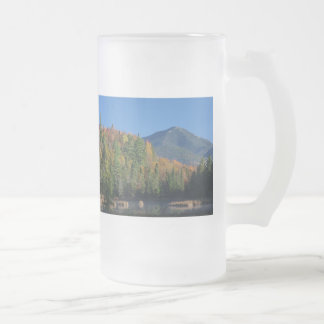 Whiteface Mountain over Little Cherrypatch Pond Frosted Glass Beer Mug