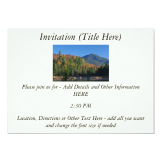 Whiteface Mountain over Little Cherrypatch Pond 5x7 Paper Invitation Card