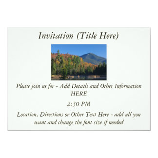 Whiteface Mountain over Little Cherrypatch Pond Custom Invites