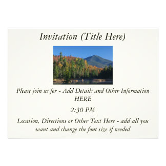 Whiteface Mountain over Little Cherrypatch Pond Announcements