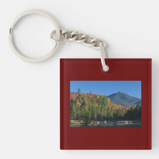 Whiteface Mountain over Little Cherrypatch Pond Keychain