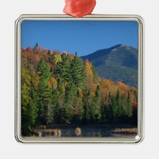 Whiteface Mountain over Little Cherrypatch Pond Metal Ornament