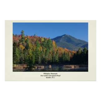 Whiteface Mountain over Little Cherrypatch Pond Posters