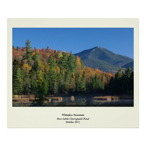 Whiteface Mountain over Little Cherrypatch Pond Print