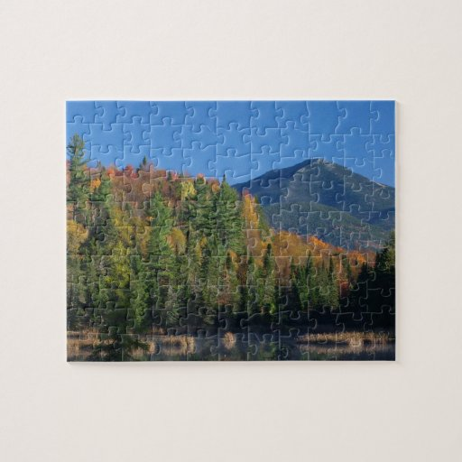 Whiteface Mountain over Little Cherrypatch Pond Jigsaw Puzzles