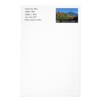 Whiteface Mountain over Little Cherrypatch Pond Stationery Design