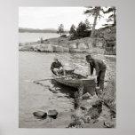 Whitefish Bay Fishing Trip, 1906 Poster