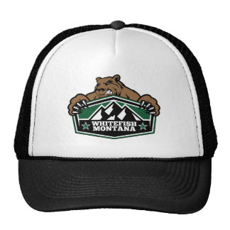 Whitefish Brown Bear Trucker Hat