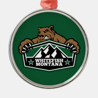 Whitefish Brown Bear Metal Ornament