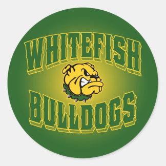Whitefish Bulldogs Round Stickers