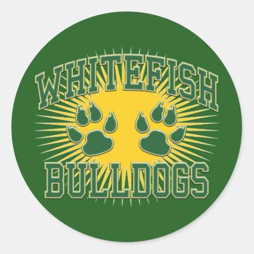 Whitefish Bulldogs Tackle & Twill Sticker