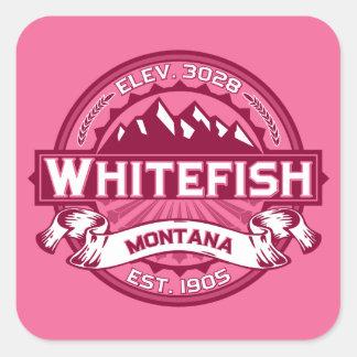 Whitefish Honeysuckle Square Sticker