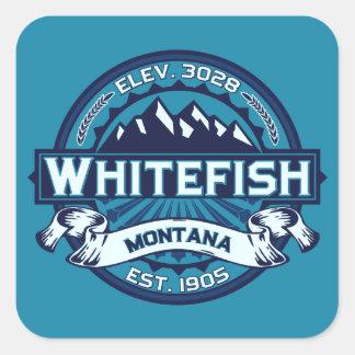 Whitefish Ice Square Stickers