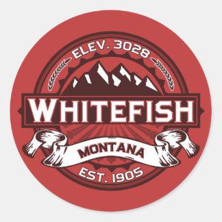 Whitefish Logo Red Stickers
