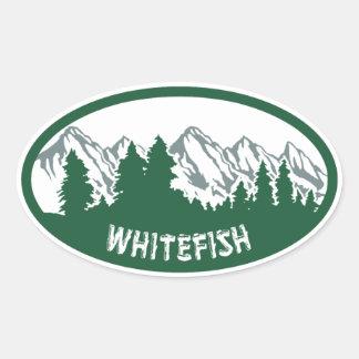 Whitefish Montana Oval Oval Sticker