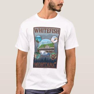 Whitefish, MontanaScenic Travel Poster T-Shirt