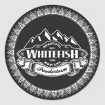 Whitefish Mountain Emblem Classic Round Sticker