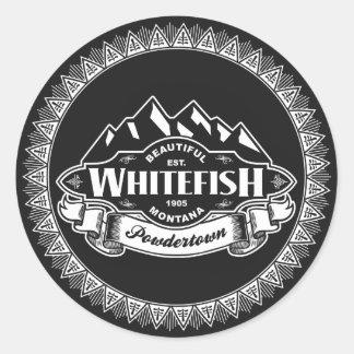 Whitefish Mountain Emblem Stickers