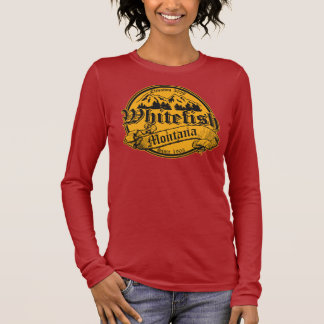 Whitefish Old Canterbury on Gold Long Sleeve T-Shirt