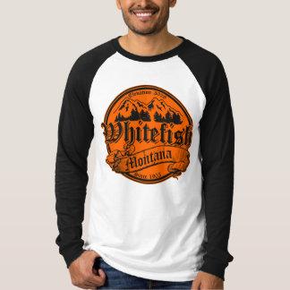 Whitefish Old Canterbury on Orange Tshirts