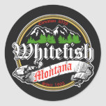 Whitefish Old Circle Classic Round Sticker