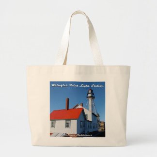 Whitefish Point Light Station - Large Tote Bag