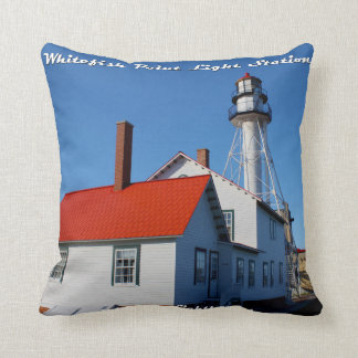 Whitefish Point Light Station - Throw Pillow