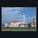 """Whitefish Point Lighthouse cloth placemat<br><div class=""""desc"""">Whitefish Point Lighthouse located north of Paradise,  Michigan on Lake Superior</div>"""