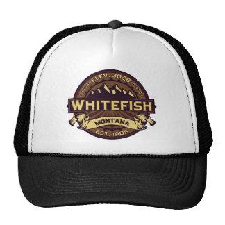 Whitefish Sepia Trucker Hat