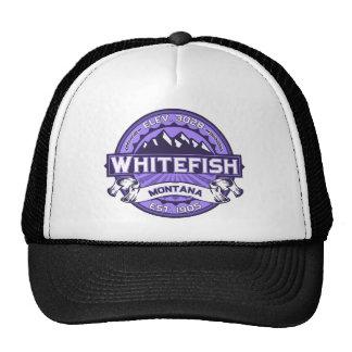 Whitefish Violet Trucker Hat