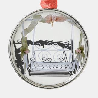 WhiteGardenSwing103013.png Metal Ornament