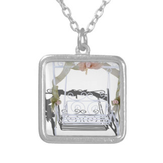 WhiteGardenSwing103013.png Square Pendant Necklace