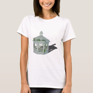 WhiteGazeboVineFlowers122814 T-Shirt