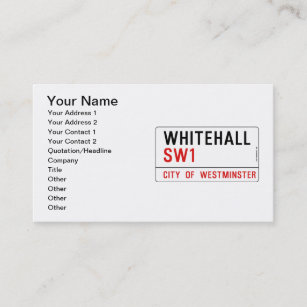 Street sign business cards zazzle whitehall london street sign business card reheart Choice Image