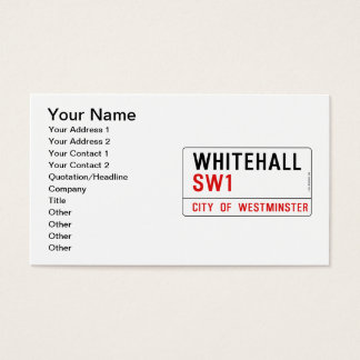 Whitehall London Street Sign Business Card