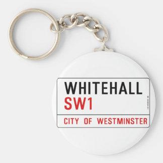 Whitehall London Street Sign Keychain