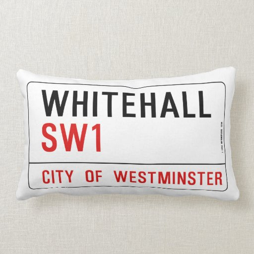 Whitehall London Street Sign Pillows