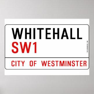 Whitehall London Street Sign Poster