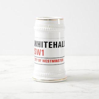 Whitehall, placa de calle de Londres Jarra De Cerveza