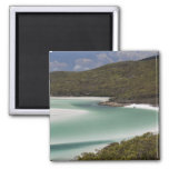 Whitehaven Beach, Hill Inlet, Tounge Point, 2 Inch Square Magnet
