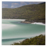 Whitehaven Beach, Hill Inlet, Tounge Point, Large Square Tile