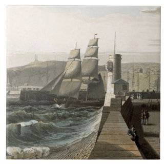 Whitehaven, Cumberland, from 'A Voyage Around Grea Ceramic Tile