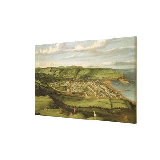 Whitehaven, Cumbria, Showing Flatt Hall, c.1730-35 Canvas Print